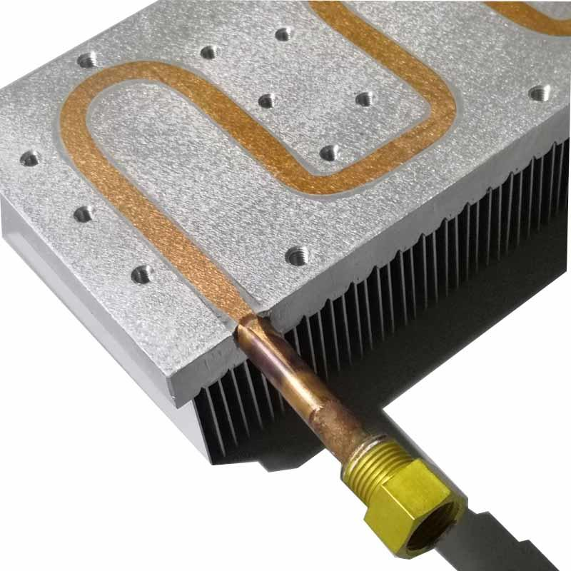 High Power IGBT Water Cooling Heatsink And Enbeded Heat Pipe