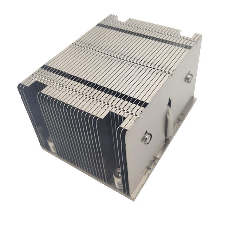 LGA 2011/2066 2U active 3 heat pipe server Desktop Computer CPU heat sink manufacturer processing customized aluminum fin heat sink