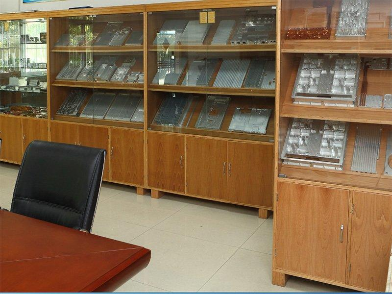 Sample room of our heat sink factory