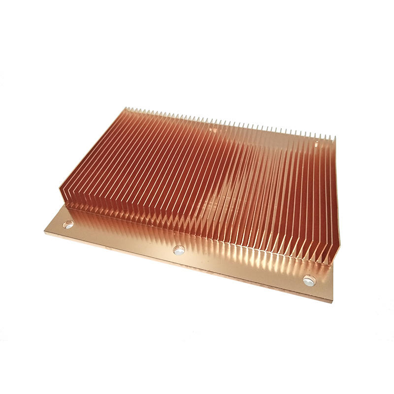 Pure Copper Skived Fin And  CNC Processing Heat Sinks