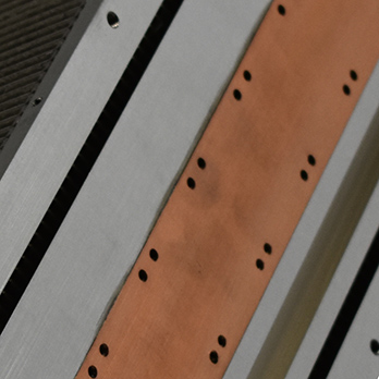 aluminum stamped fin heat sink base