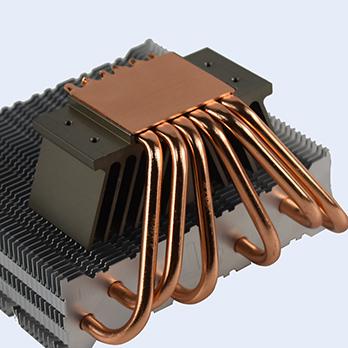 Heat sink With Heat pipe soldering