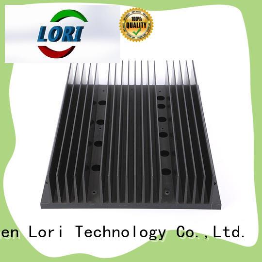 cnc machining extruded aluminum heatsink led light for power device LORI