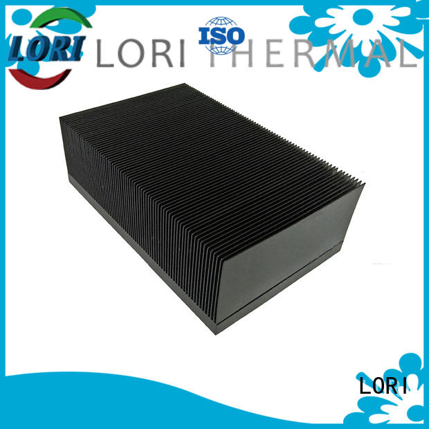 LORI customized copper pin fin heat sink anodized for cnc processing