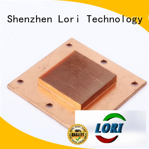 LORI greenhouse skived heatsink manufacturer for cnc processing