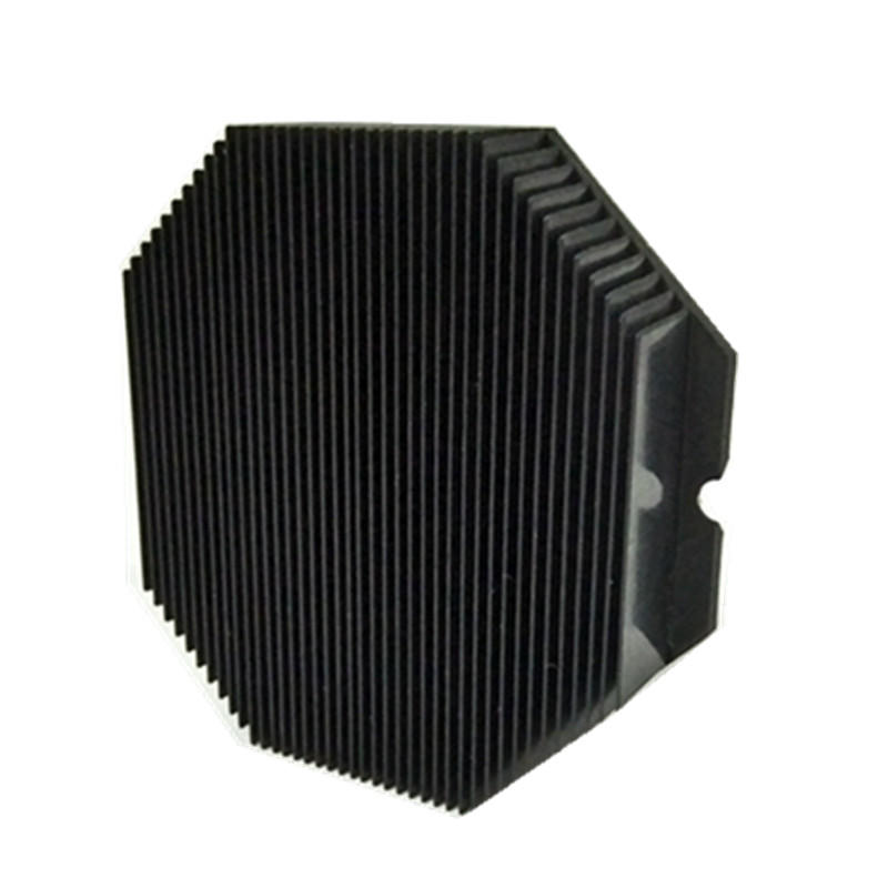 Customized Aluminum Skived Fin Heat Sink With Black Anodized Lori