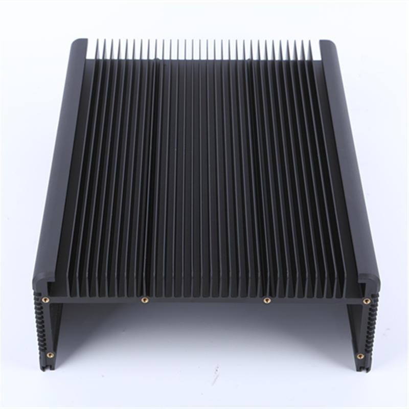 Black anodized aluminum heat sink
