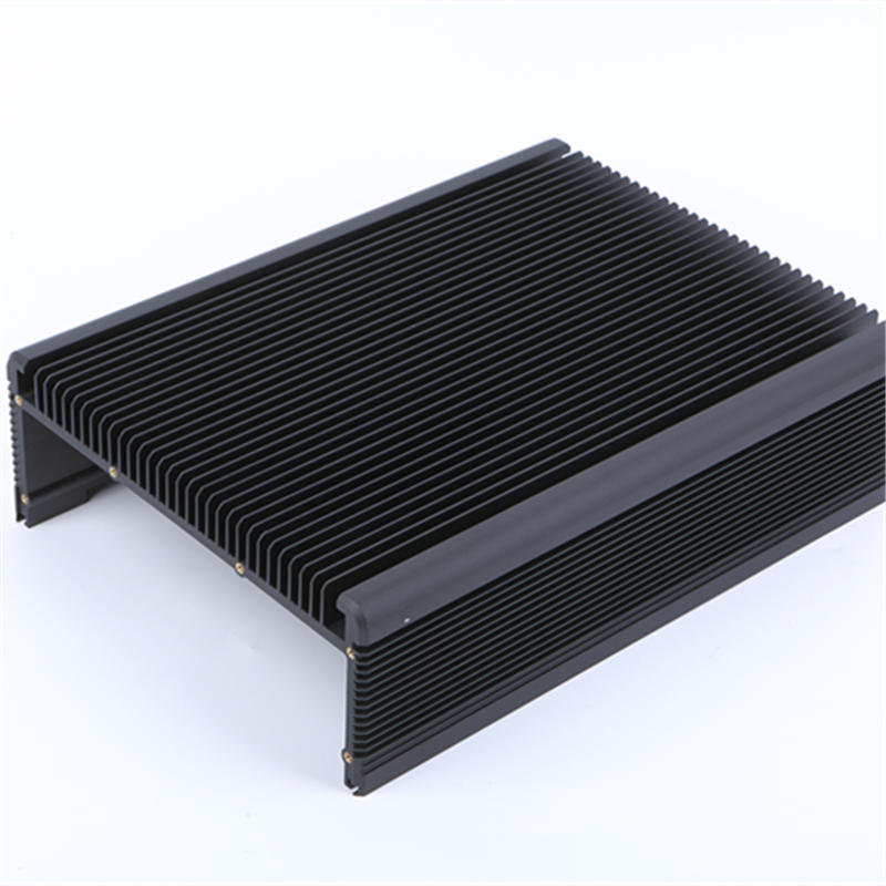 Black anodized aluminum heat sink