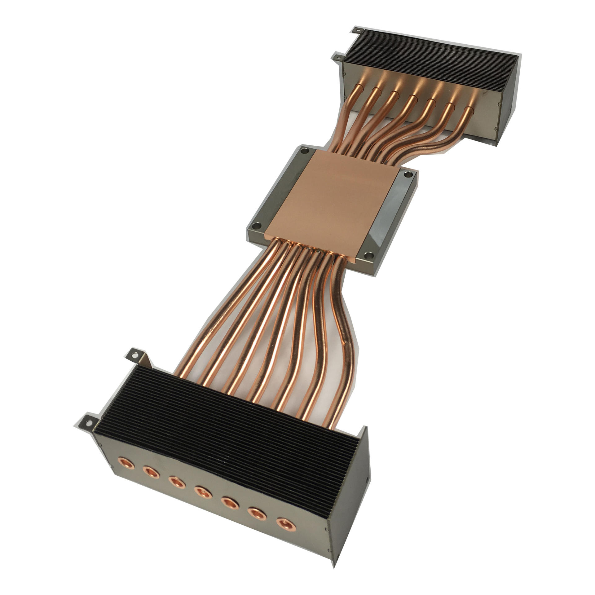 Heat Pipe Heat Sink Module With Stamping Fin