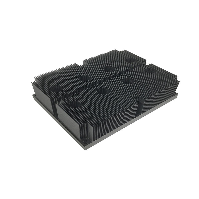 Custom Skived Fin Aluminum Heat Sink With Black Anodized