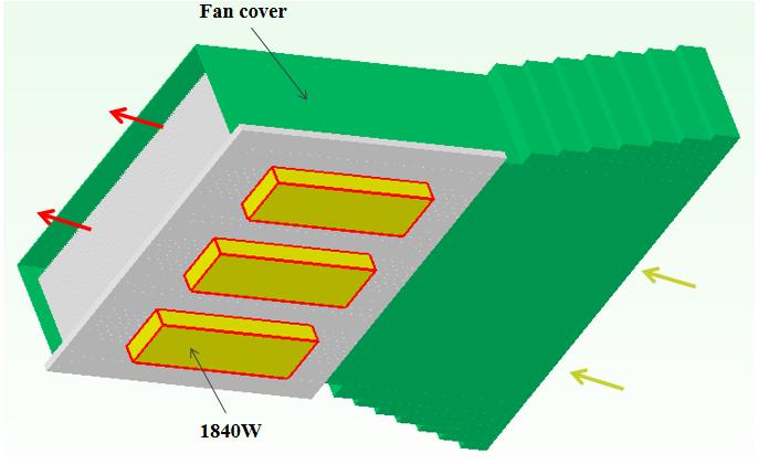 IGBT heat sink fan
