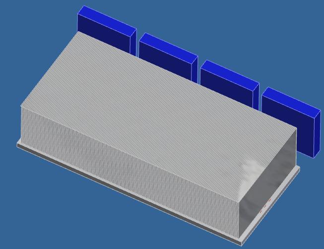 IGBT heat sink simulated test model