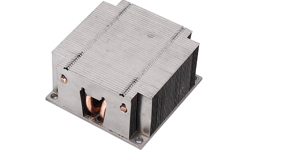 soldering heat sink with heat pipe