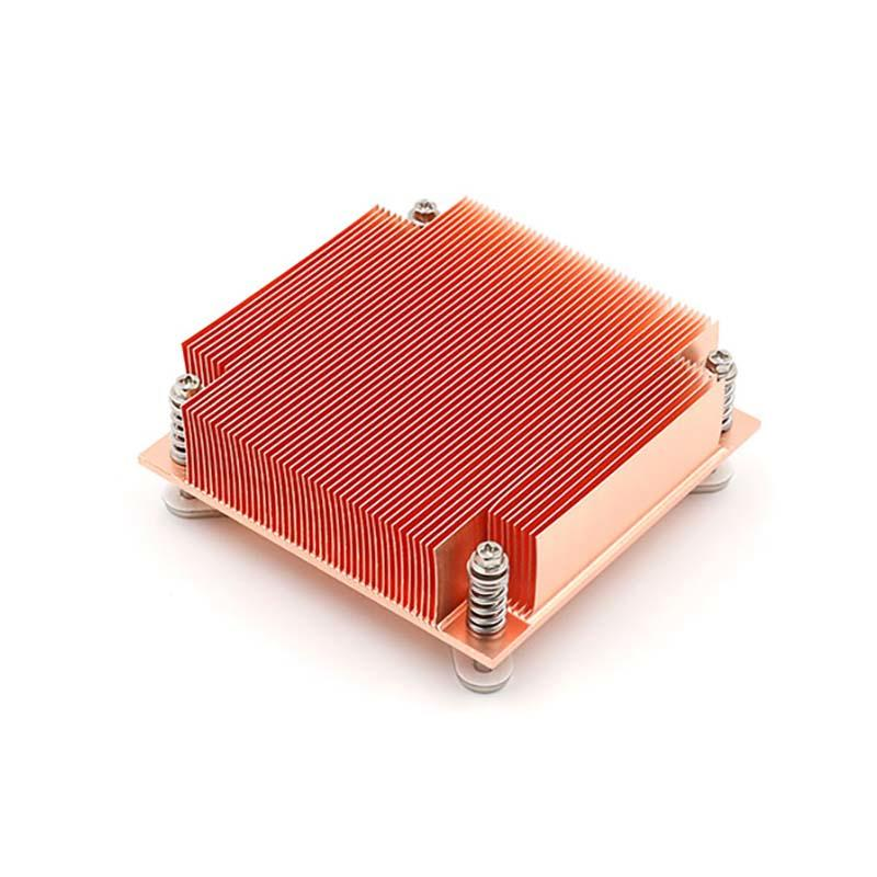 Copper Heatsink Cpu With Skiving Fin For Interl processor From Lori