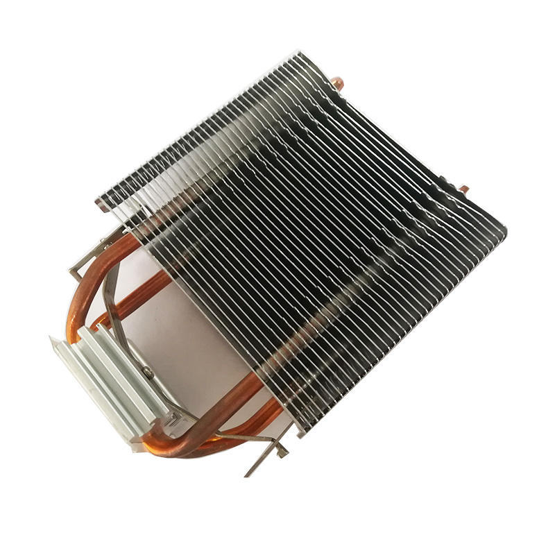 A heat sink with copper heat pipes