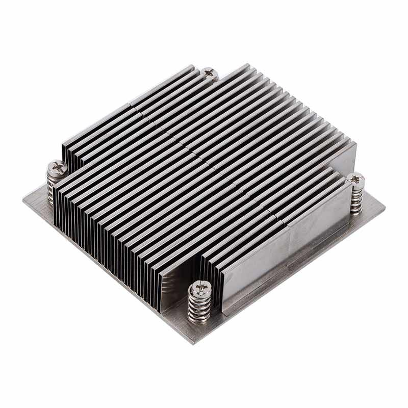 Folded Fin Heat Sinks aluminum
