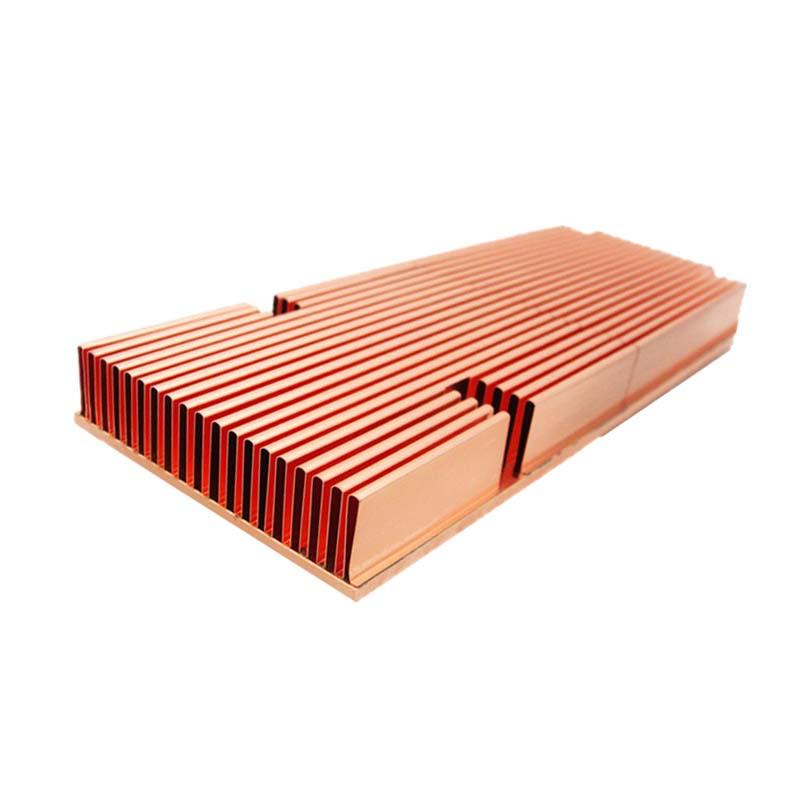 Folded Fin Heat Sink Copper