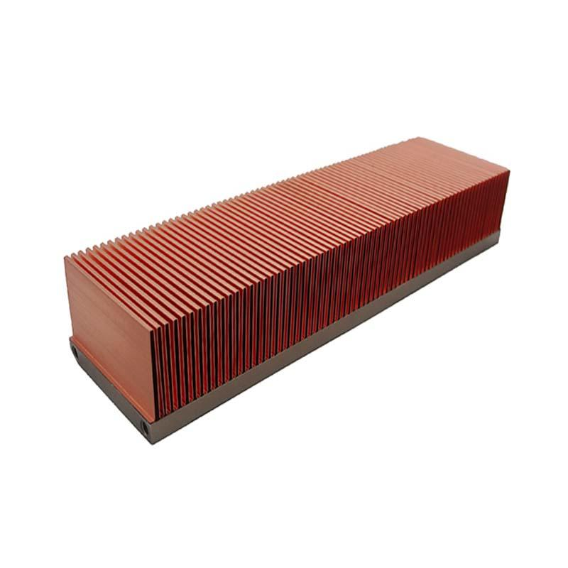 Copper Folded Fin Heat Sinks With Aluminum Base  Lori
