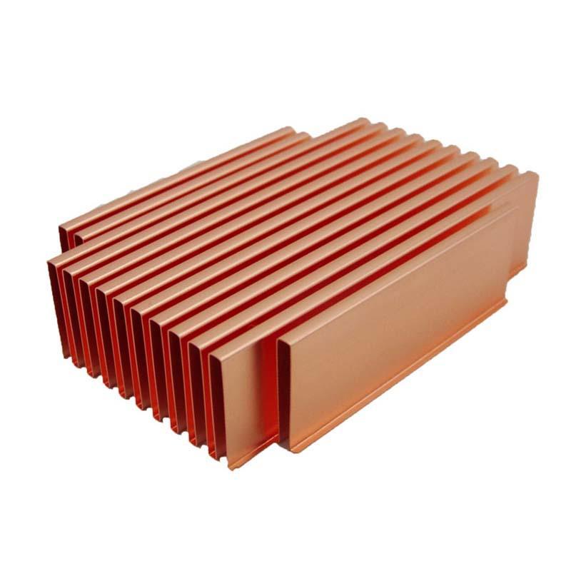 China Copper Folded Fin Heat SinkLori