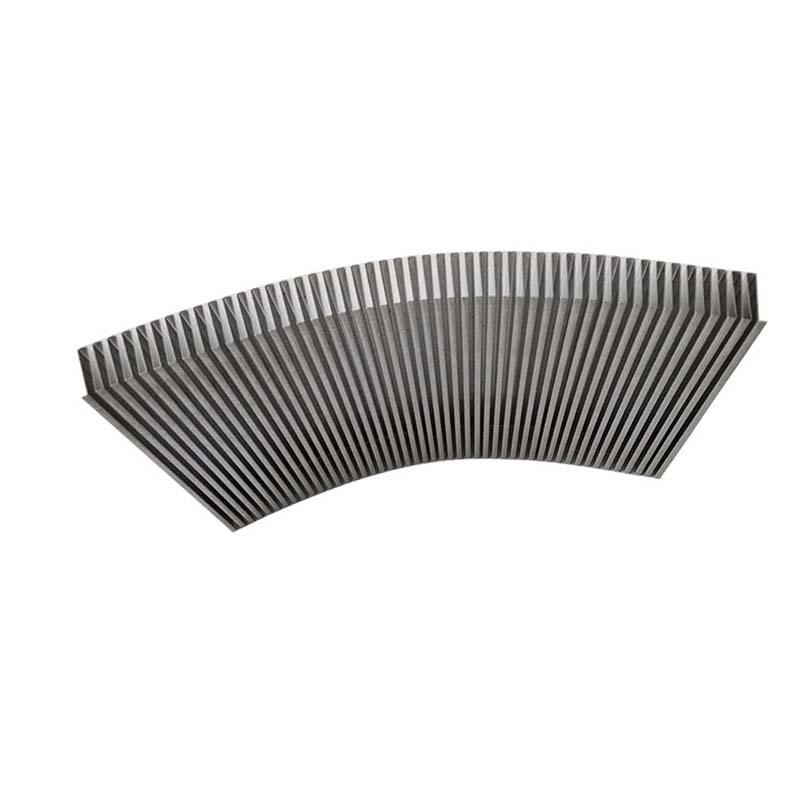 China Aluminum Folded Fin Heat Sink