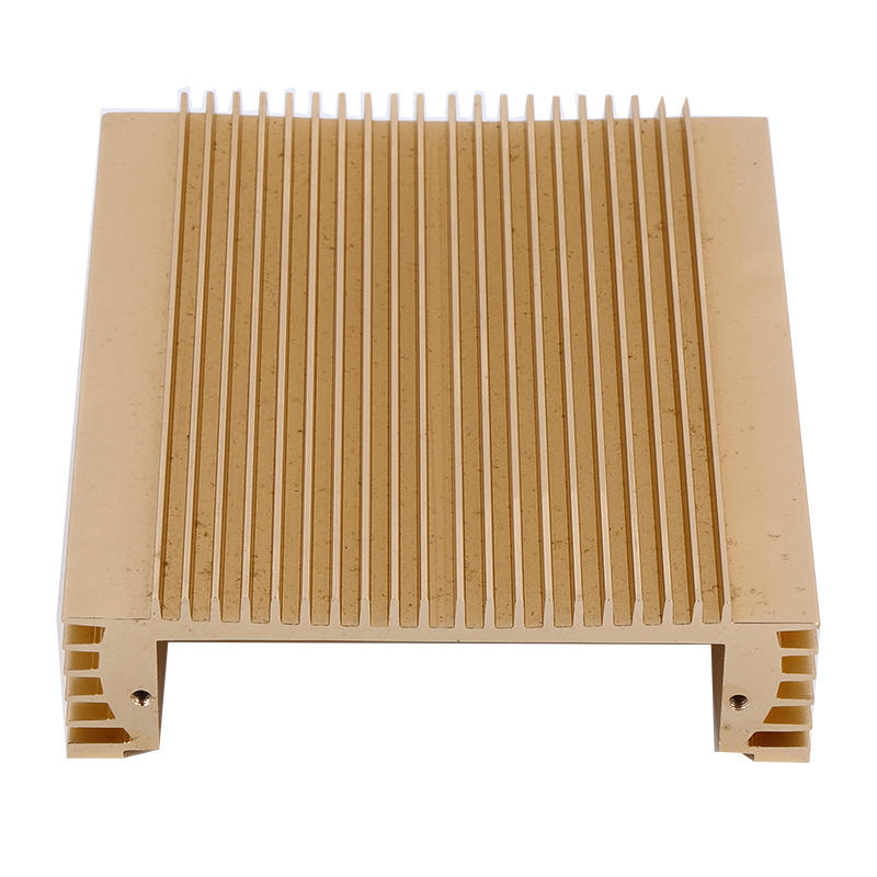 China  Aluminum Extrusion Heat Sink EnclosureWith Yellow Anodized