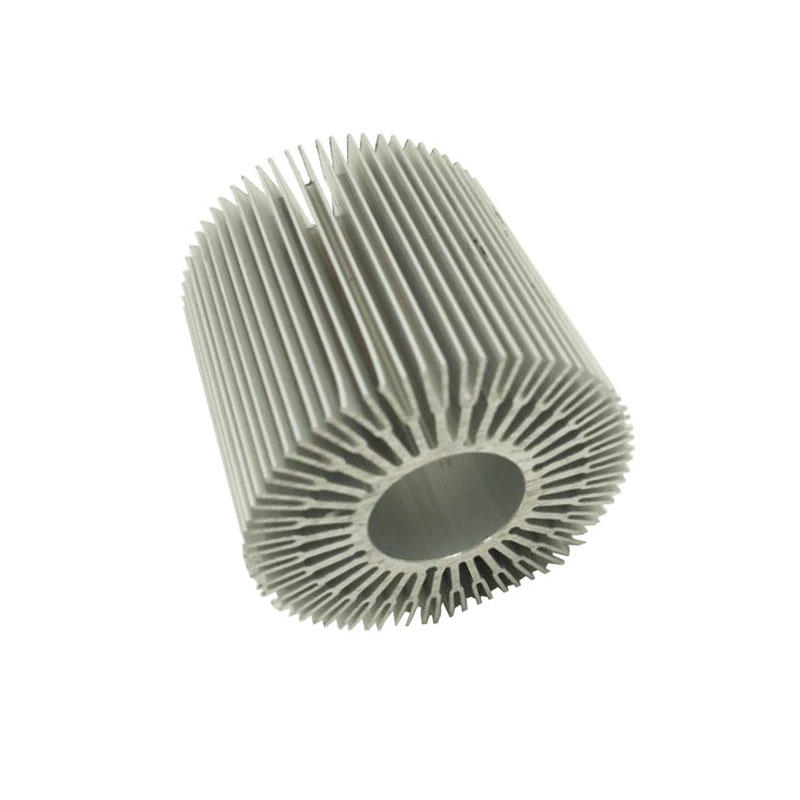 Round heat sink extrusion for led light.