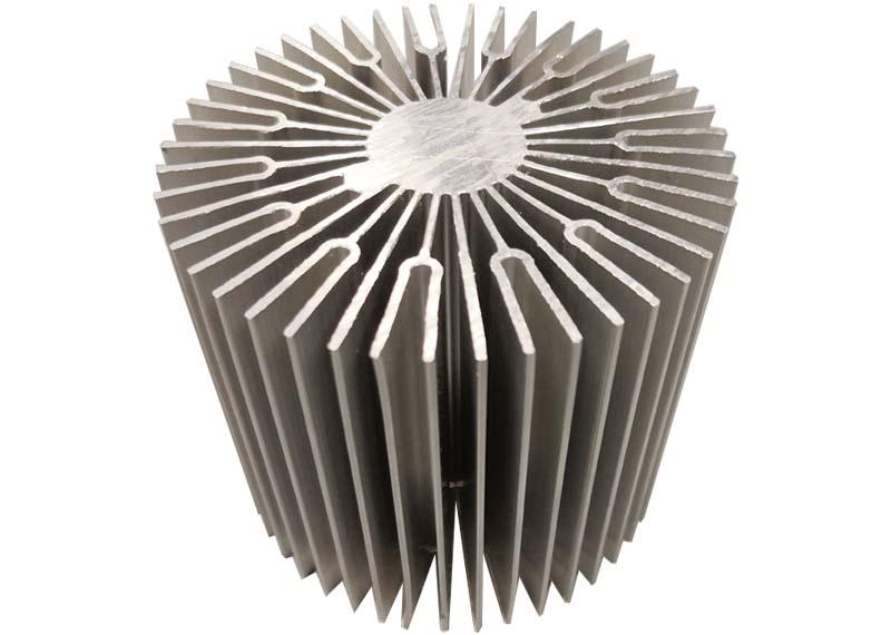 Round aluminum heat sink for led