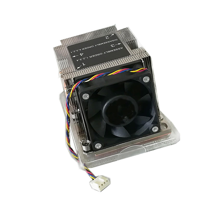 Active 2u Server Cpu Heat Sink Cooling LGA3647