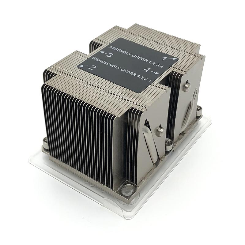 Intel LGA3647 Narrow 2U Server Passive Cpu Cooling Heatsink