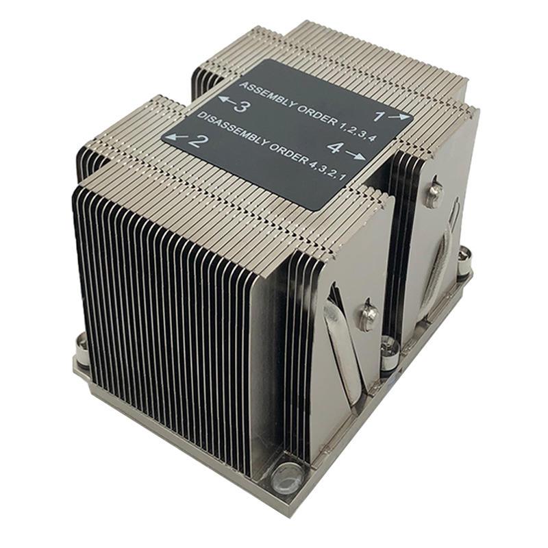 Intel LGA3647 Narrow 2U Server Passive Cpu Cooling Heatsink