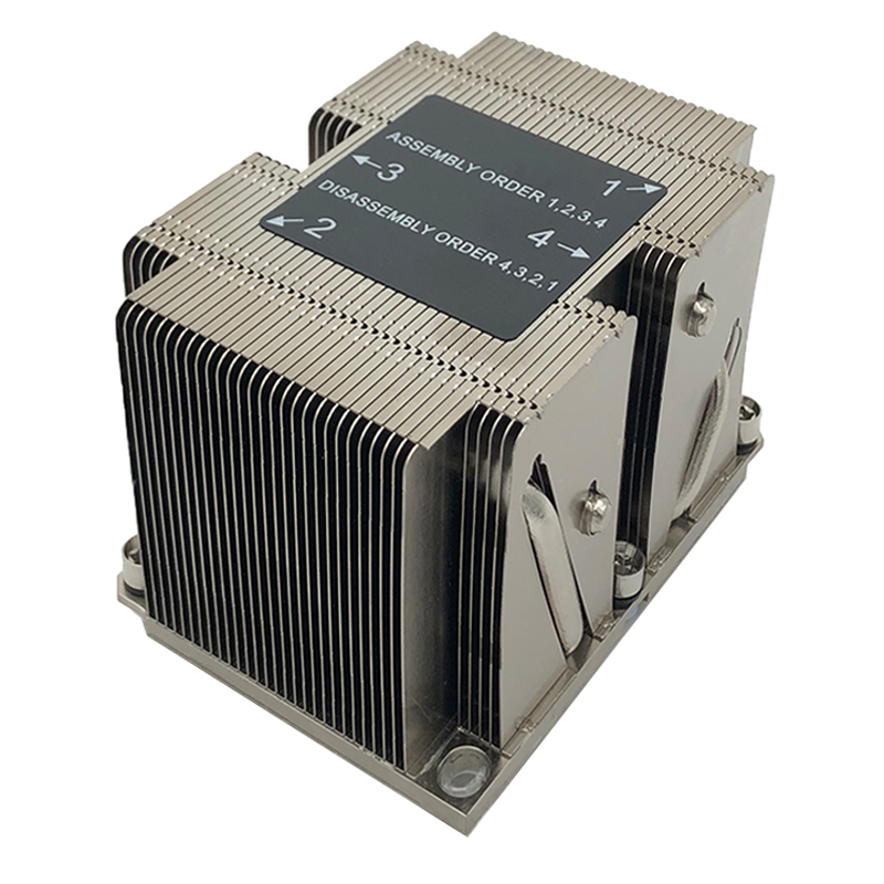 LGA3647 Narrow 2U Server Passive Cpu Cooling Heatsink