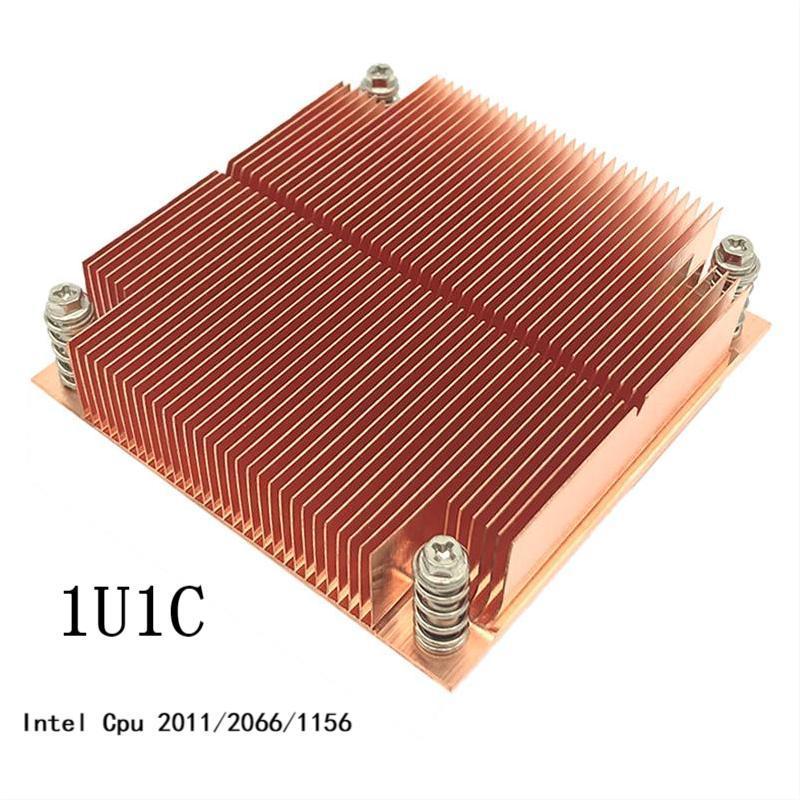 1U Server Passive Pure Copper Skived Fin Heatsink For Intel Cpu LGA2011/2066/1156