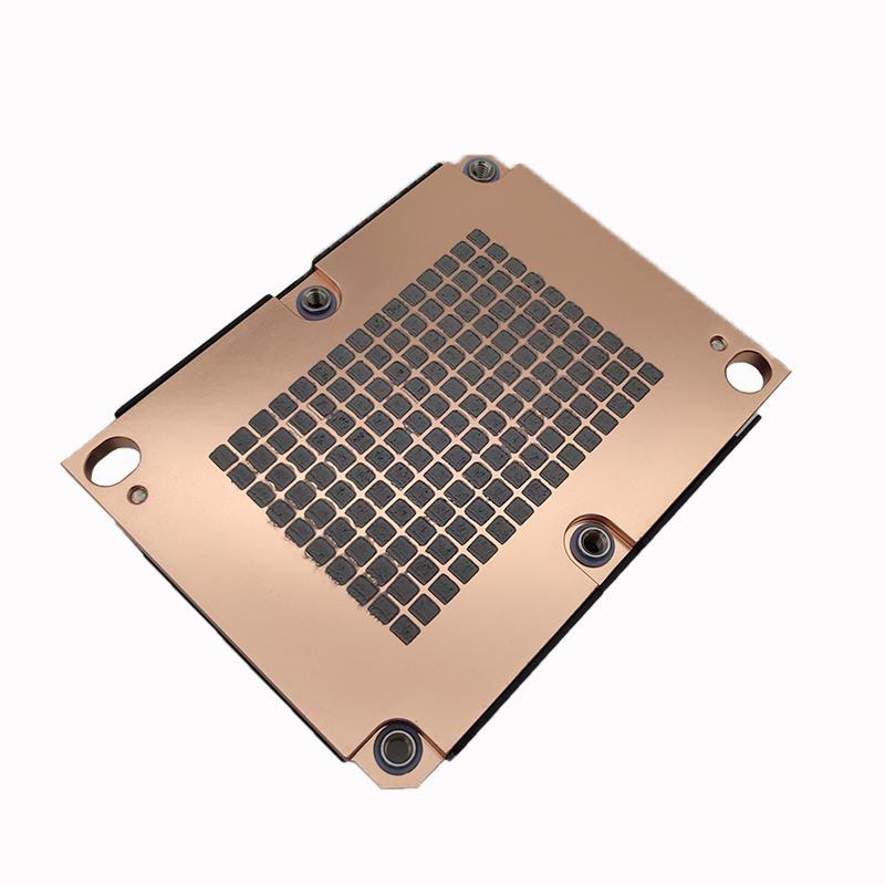LGA 3647 1U  Server Active Copper Heat Sink with air cooled CPU fan