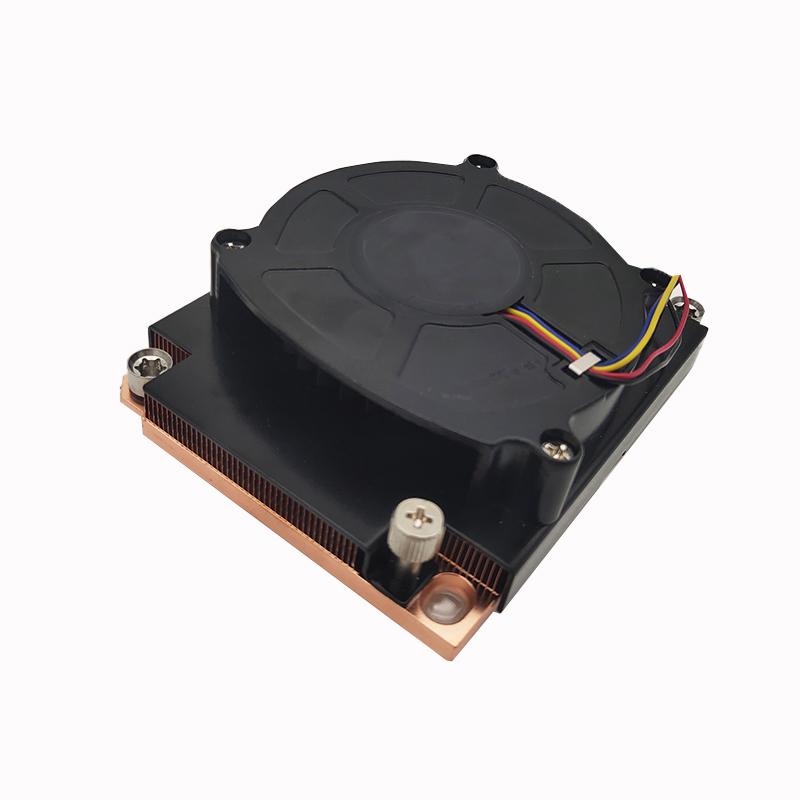 LGA 3647 1U Server Copper heat sink with air cooled CPU fan