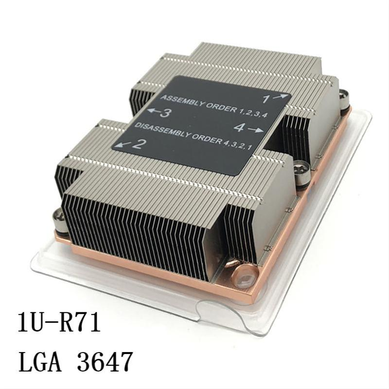Best Passive LGA3647 1U  Cpu Cooler Heat Sink With 2 Heat Pipes Copper Base For Servers and Desktop Computers