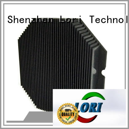 Skived Fin Heat Sink Aluminum With Black Anodized Lori