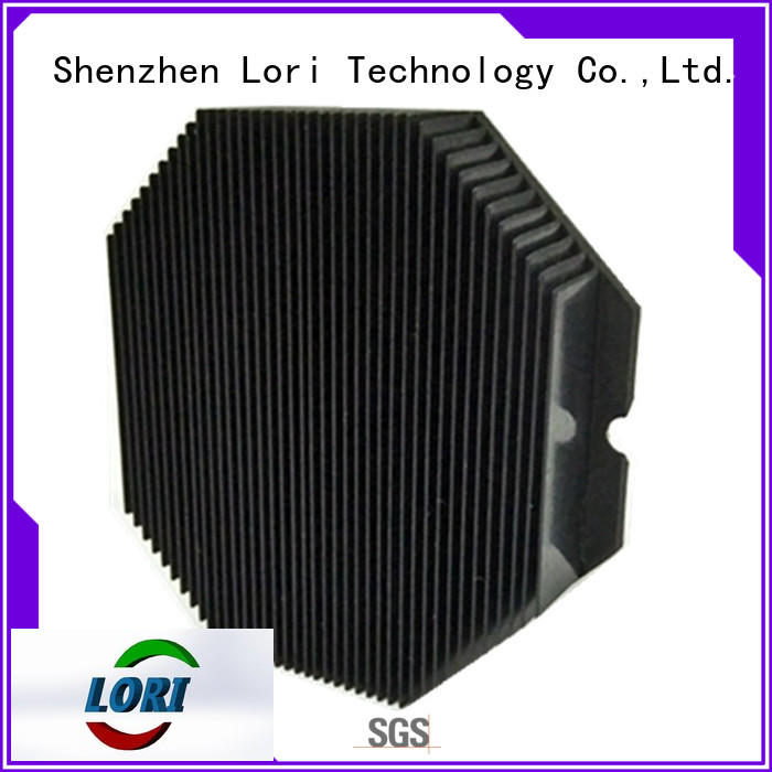 copper pin fin heat sink anodized for device LORI